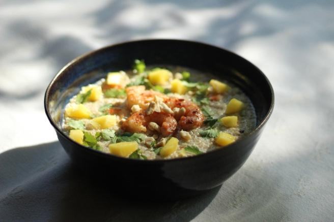 quinoa con camarones marinaclay